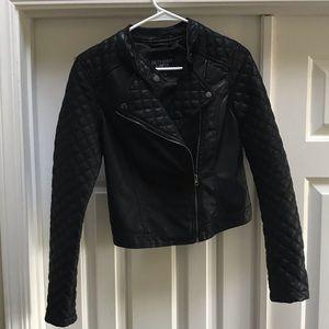 Bethany Mota Faux Black Leather Jacket